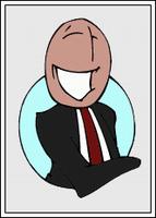 Bewerbungsfoto Karikatur