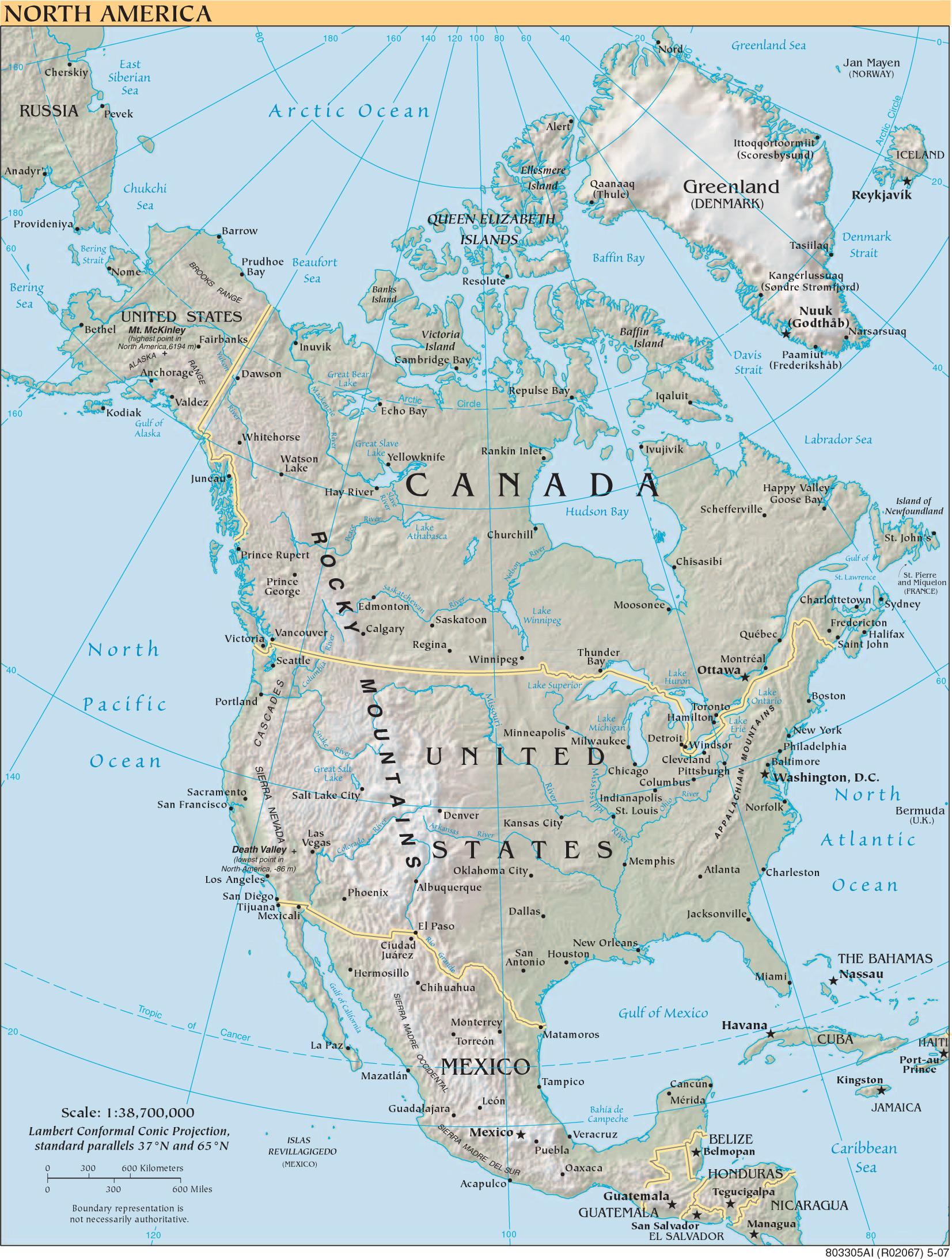 Physische Karte Lateinamerika.Landkarte Amerika Landkarten Download Amerikakarte