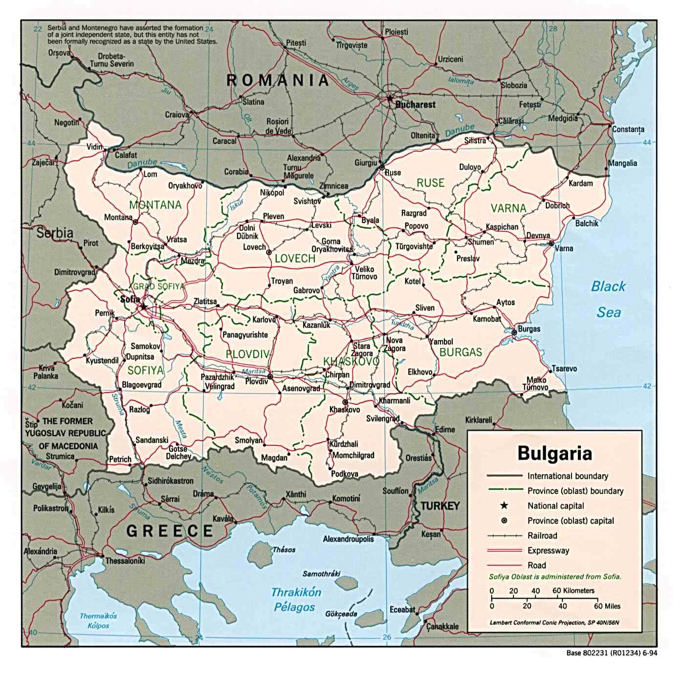 bulgarien karte europa