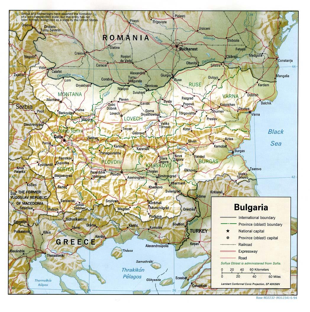 landkarte bulgarien rumänien