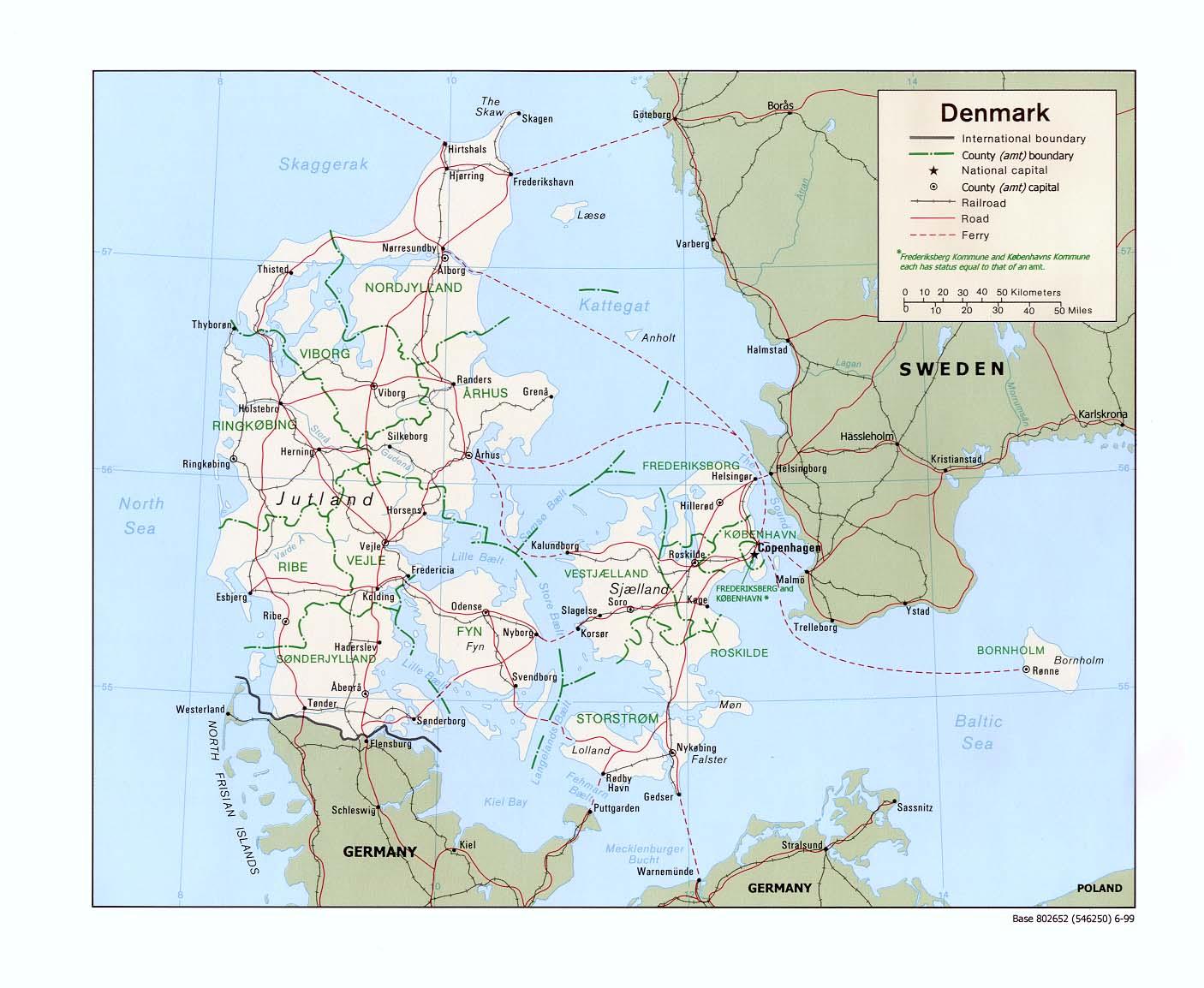 Karte Norwegen Dänemark.Landkarte Dänemark Landkarten Download Dänemarkkarte Dänemark