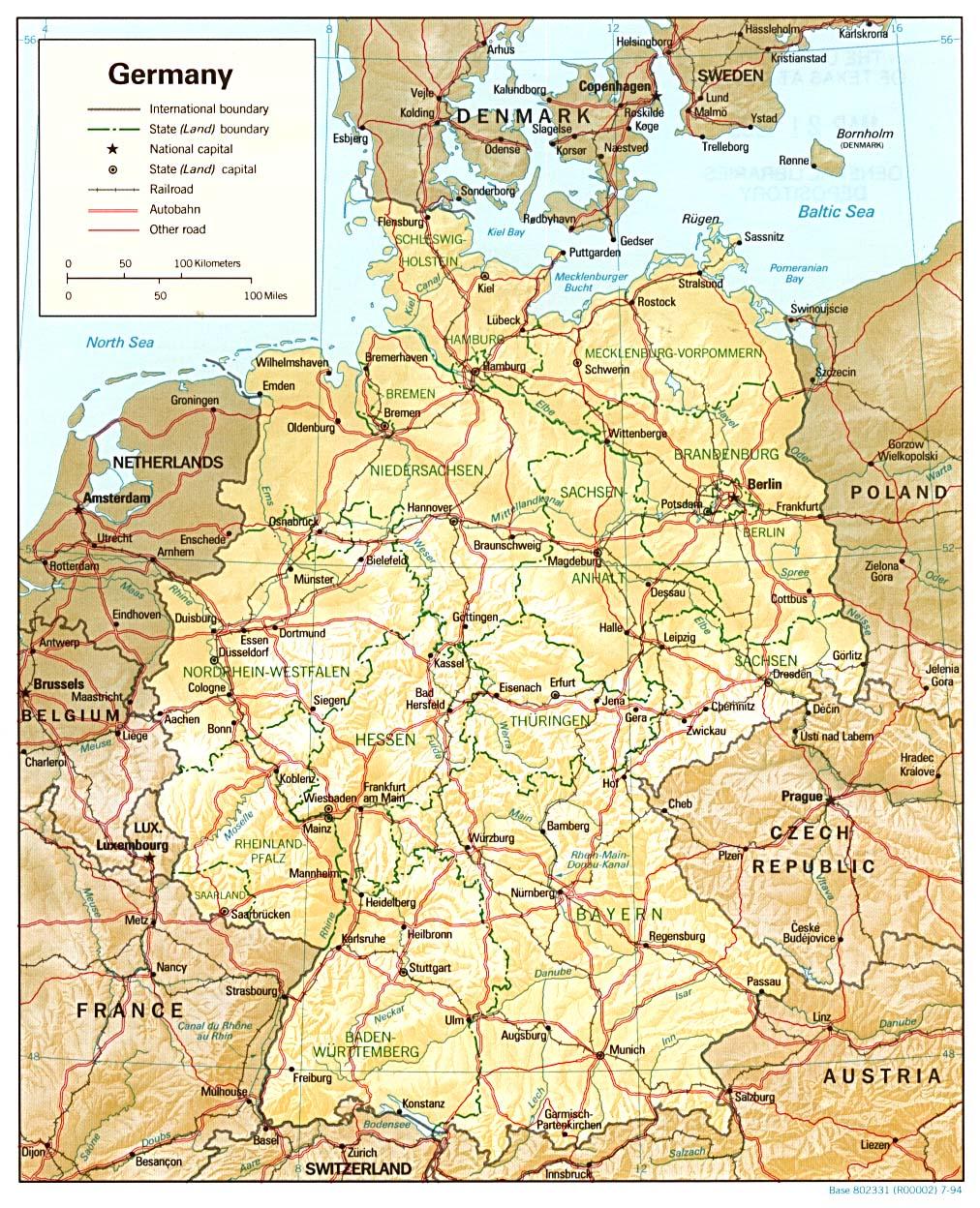 Landkarte Deutschland Deutschlandkarte Deutschland Landkarte