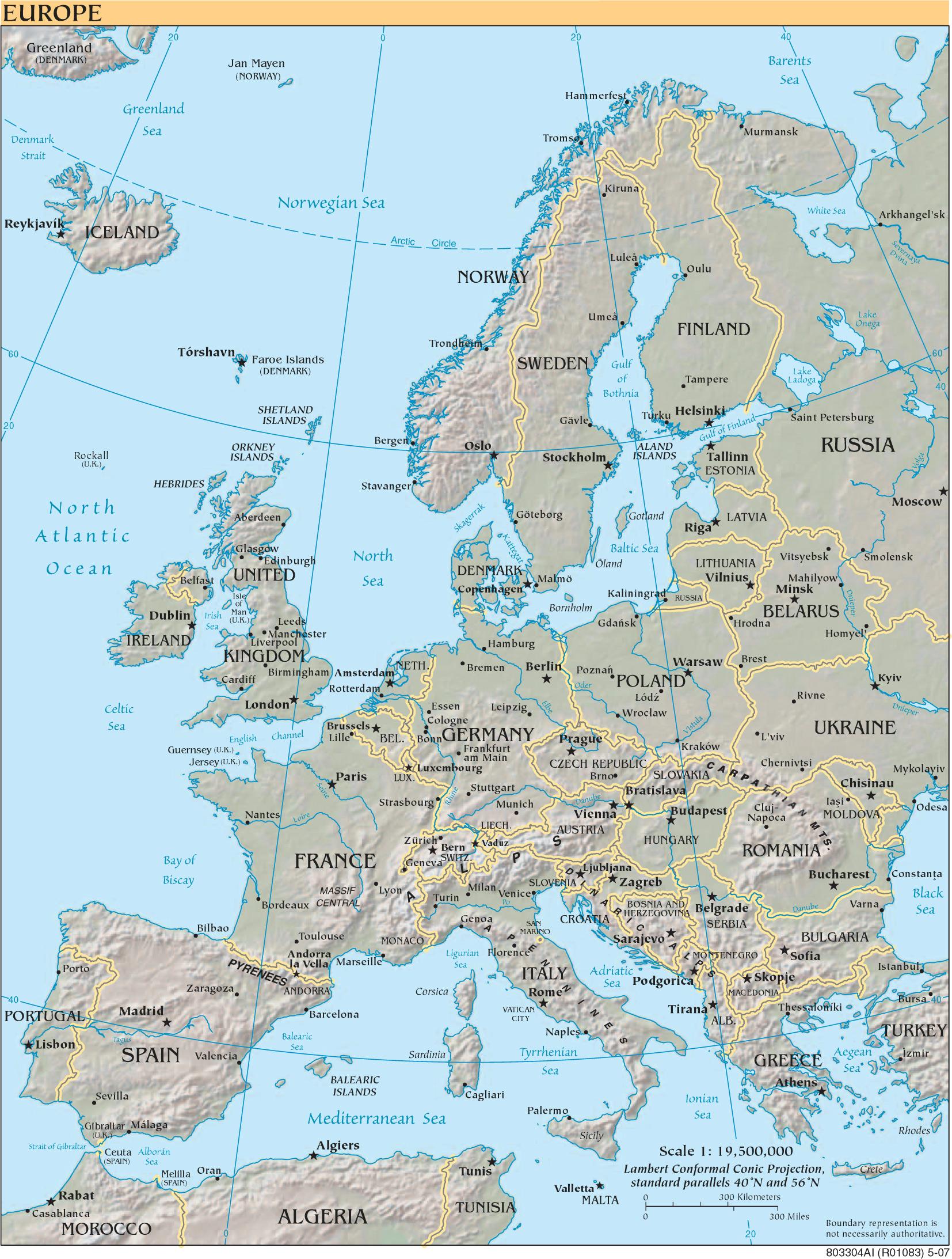 Karte Von Europa Mit Städten.Landkarte Europa Landkarten Download Europakarte Europa Landkarte