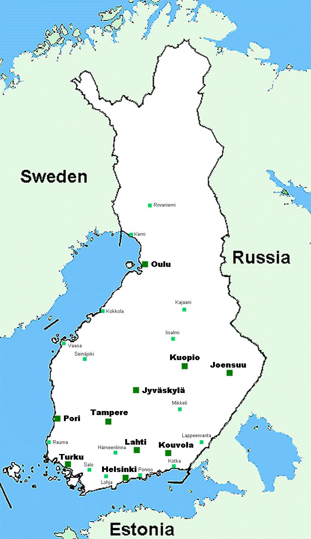 Turku Finland City Map
