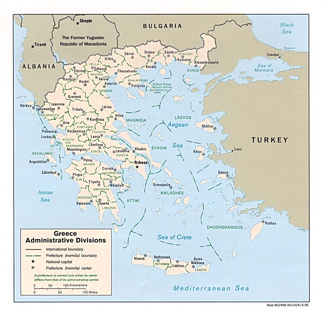 Karte Griechenland Deutsch.Landkarte Griechenland Landkarten Download