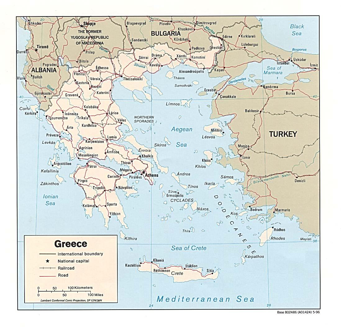 Karte Griechenland.Landkarte Griechenland Landkarten Download Griechenlandkarte