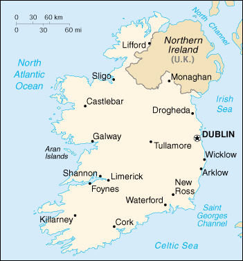 Irland Karte Pdf.Landkarte Irland Landkarten Download Irlandkarte