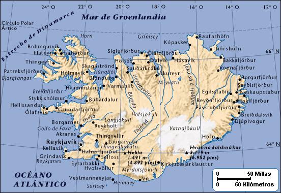 Landkarte Island Freie Karten Und Landkarten