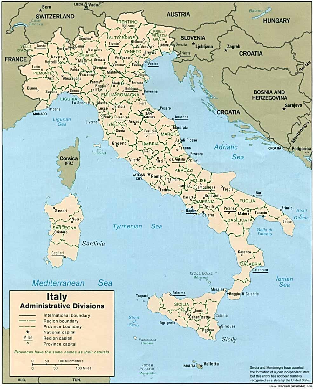 Karte Italien Regionen.Landkarte Italien Landkarten Download Italienkarte Italien