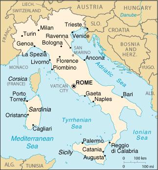 Norditalien Karte.Landkarte Italien Landkarten Download Italienkarte