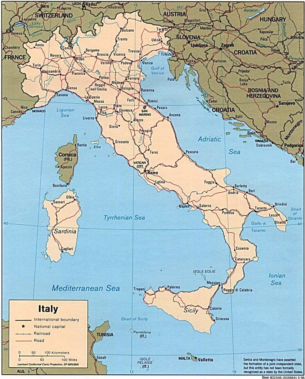 Landkarte Italien Landkarten Download Italienkarte Italien