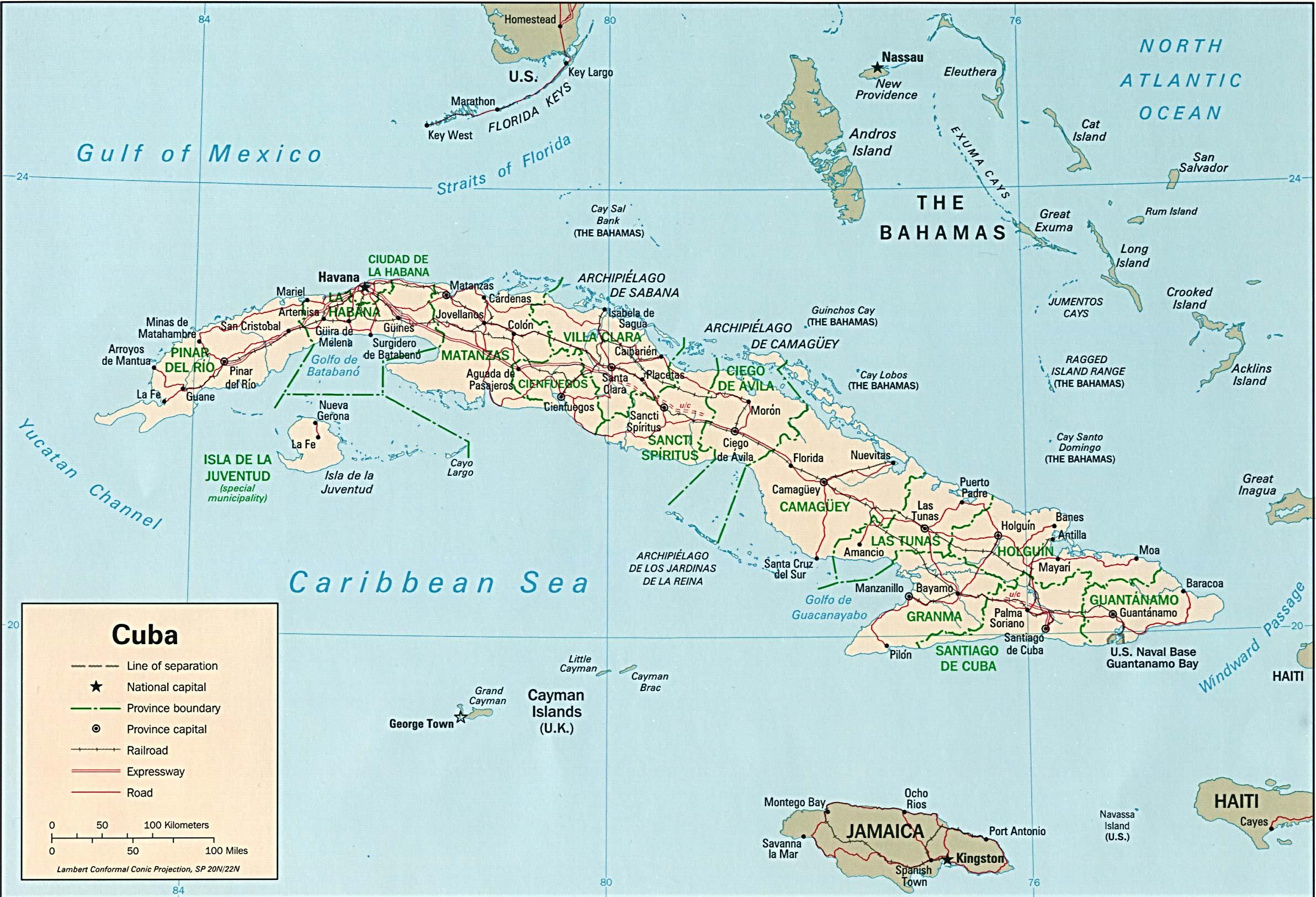 Costa Rica Karte Zum Ausdrucken.Landkarte Kuba Landkarten Download Kubakarte Kuba