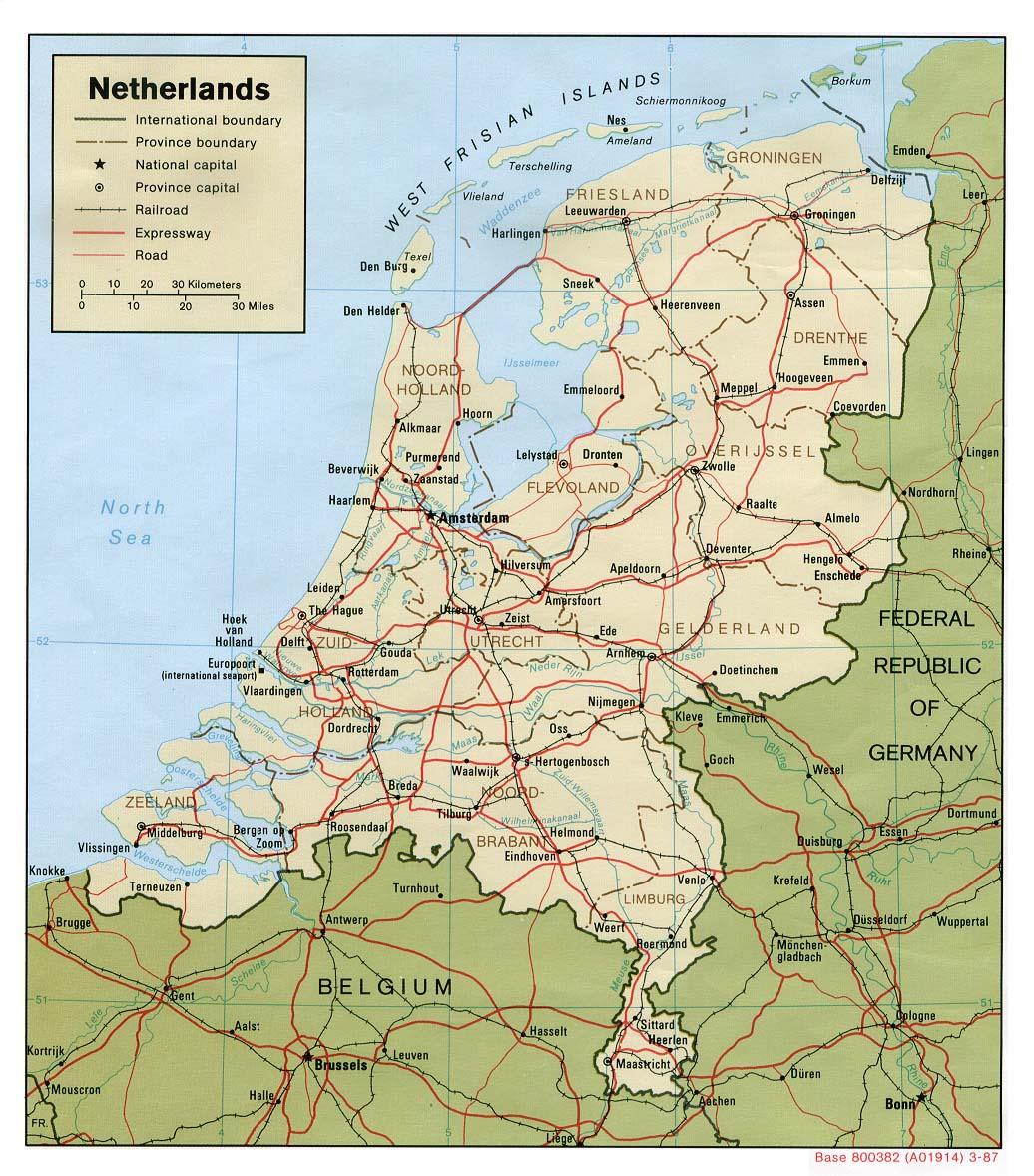 landkarte deutschland holland