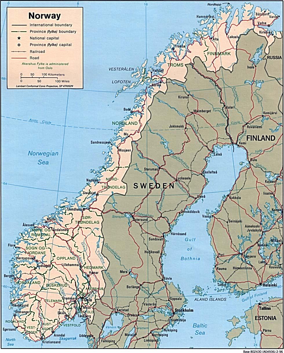 Karte Südnorwegen.Landkarte Norwegen Landkarten Download Norwegenkarte Norwegen