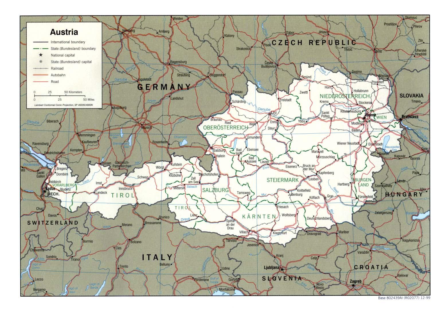 Landkarte österreich Landkarten Download österreichkarte