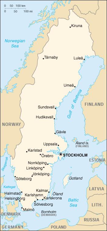 Schweden Karte Pdf.Landkarte Schweden Landkarten Download Schwedenkarte