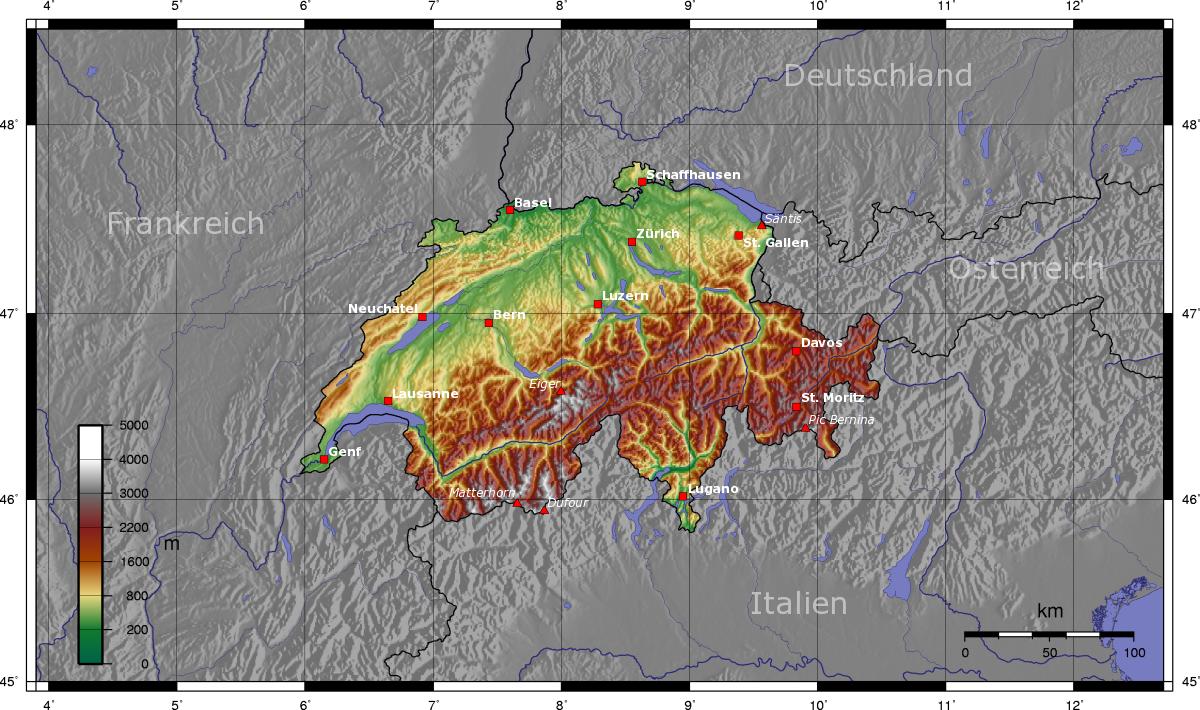 Landkarte Schweiz Landkarten Download Schweizkarte Schweiz