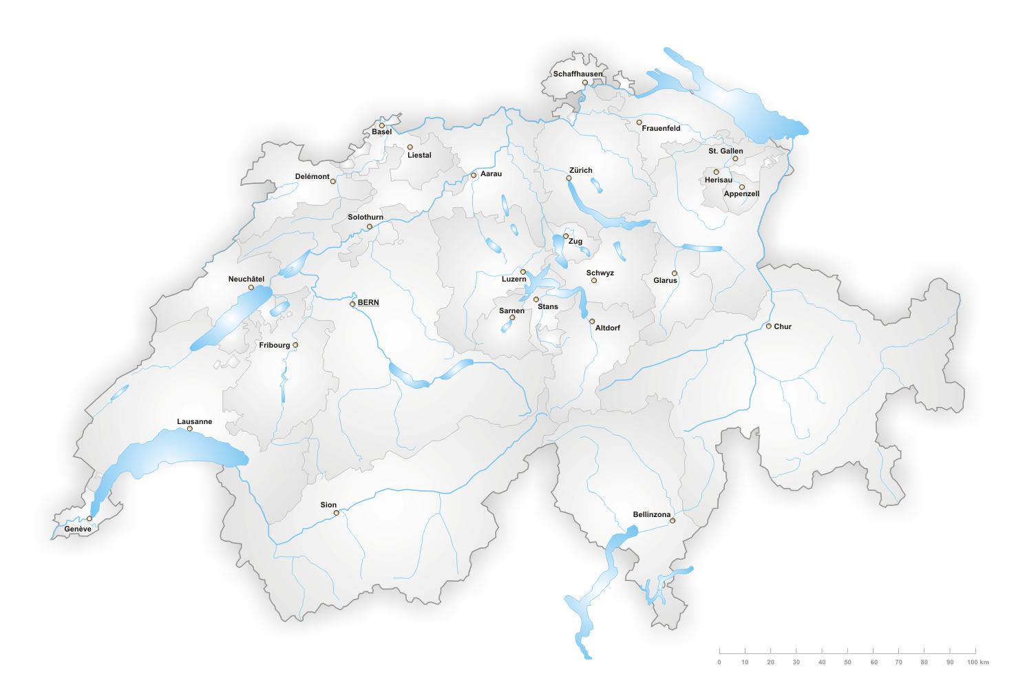 Landkarte Asien Ohne Namen.Landkarte Schweiz Landkarten Download Schweizkarte