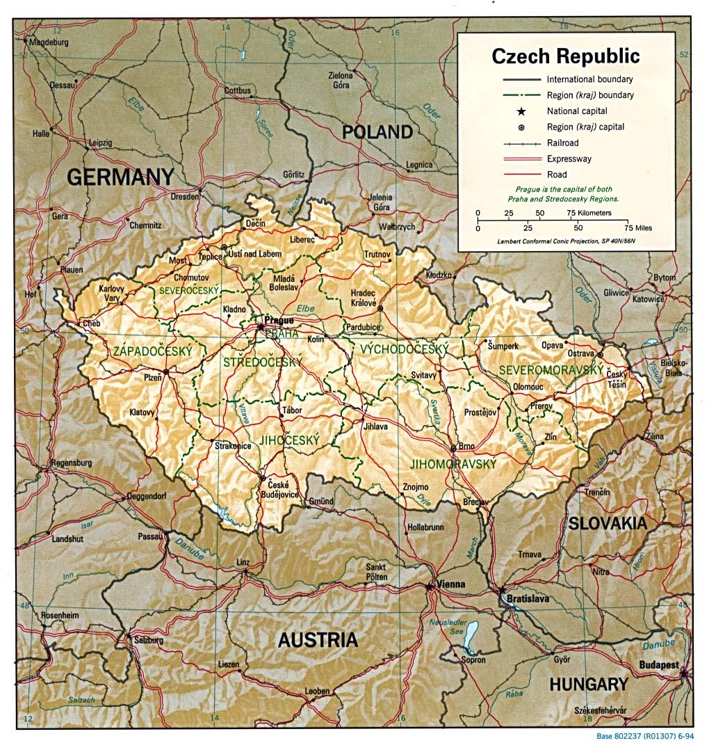 Landkarte Tschechien Landkarten Download Tschechienkarte